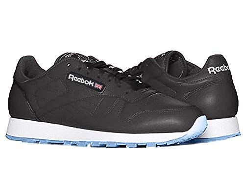 Reebok Men's Classic Leather, Black/White/Silver/Ice, 10.5 M US