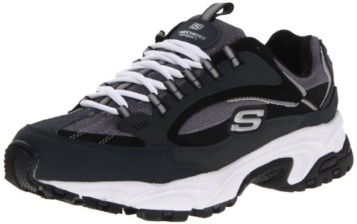 Skechers Sport Men's Stamina Nuovo Cutback Lace-Up Sneaker,Navy/Black,13 M US