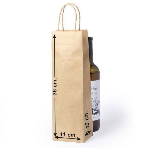 Siglo XXI 10 x Bolsas de Papel para Botella con Asas Tam....