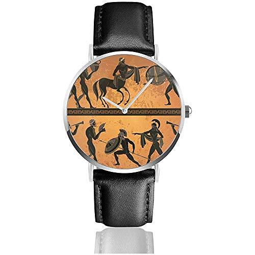 Escena de la Antigua Grecia Figura Negra Alfarería Mitología Griega Centauro Gente...