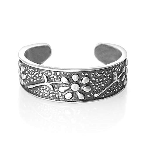 Broche de plata de ley para dedo del pie Anillo - para dedo del pie de Flores Anillo - Pretty para dedos del