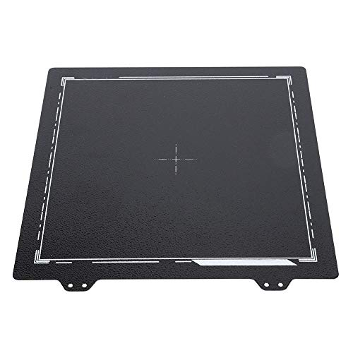 Spring Steel Sheet, 235x235mm Surface Heated Bed Platform, Black Double-Sided PEI Powder Plate, 3D Printer Parts Printing Build Plate for ENDER-3/3S/3Pro/5