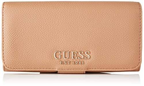 Guess Damen G Chain SLG File Clutch Reisezubehr- Brieftasche, Hellbraun, Einheitsgröße