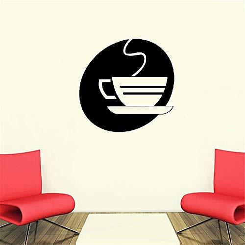 Wandtattoo Schlafzimmer Küchenbüro höhlen heraus dämpfende Teetasse-Ausgangsdekor-Tafel