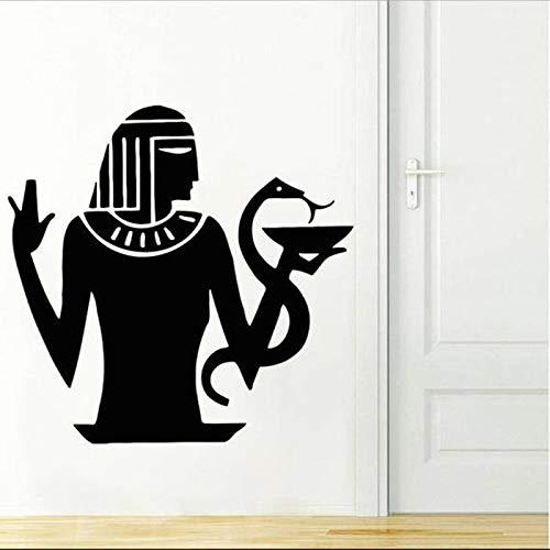 YuanMinglu Etiqueta de la Pared del Arte Antiguo Etiqueta de la Pared Pirámide de demolición Mural de Arte Negro 74x76cm