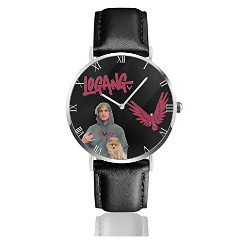 Relojes Anolog Negocio Cuarzo Cuero de PU Amable Relojes de Pulsera Wrist Watches Logan Paul Maverick