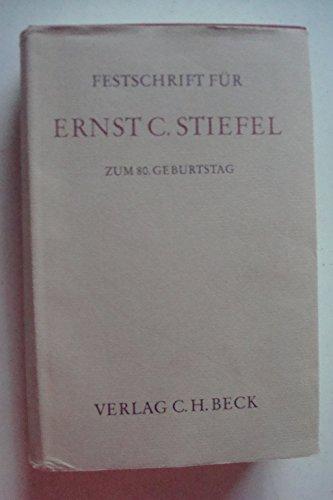 Festschrift für Ernst C. Stiefel zum 80. Geburtstag