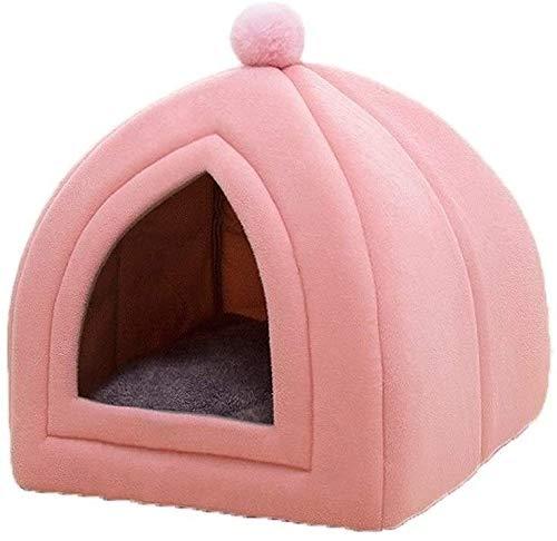 MISS KANG Mikrofaser Indoor Outdoor-Haustierbetten, Katzenzelt/Kätzchen-Bett/Katzenhütte mit abnehmbarem waschbarem pushioniertem Kissen, Haustierzelt Qingchunw (Size : Medium)