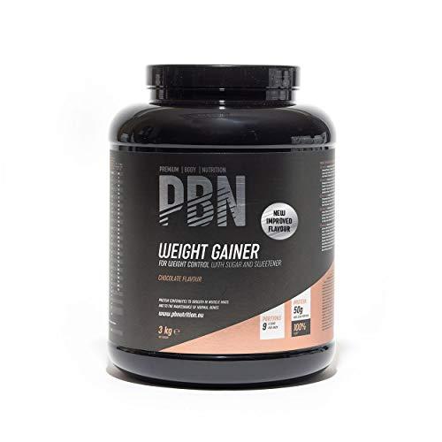 Premium Body Nutrition Weight Gainer Schokolade, 3kg-Behälter, Neuer verbesserter Geschmack