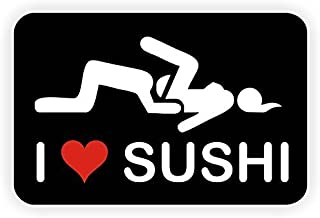 (3 pack) I LOVE SUSHI - Full Color Printed - (size: 2