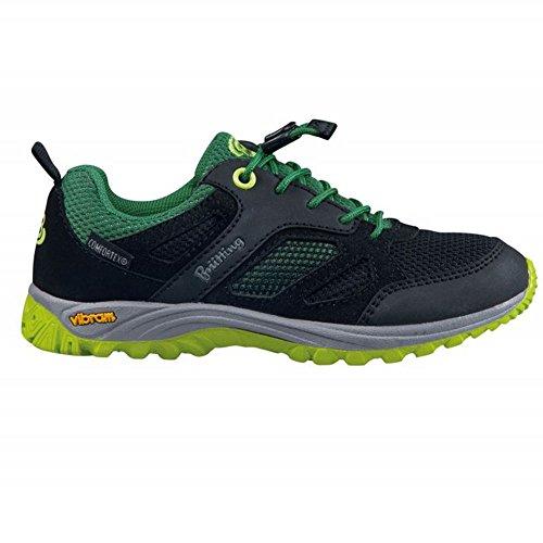Brütting Chaussures basses de trekking et de randonnée pour fille - Noir - Noir et vert citron, 33 EU