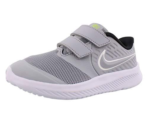 Nike Star Runner 2 (TDV), Scarpe da Corsa, Wolf Grey/White-Black-Volt, 25 EU