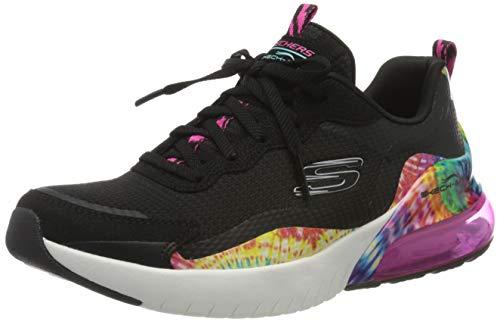 Skechers Skech-Air Stratus, Zapatillas Mujer, Negro (Black/Multi BKMT), 38.5 EU