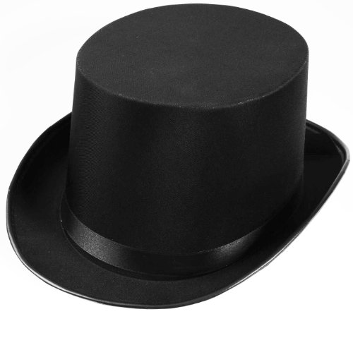 Forum Novelties mens Deluxe Adult Satin Top Hat Costume Accessory Party Supplies, Black, One Size US