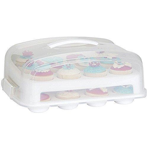 Patisse Cupcake Transportbox für 24 Cupcakes und Muffins 2 stöckig