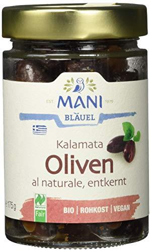 MANI ΜΑΝΙ Kalamata Oliven, al naturale, entkernt, bio, 3er Pack (3 x 175 g)