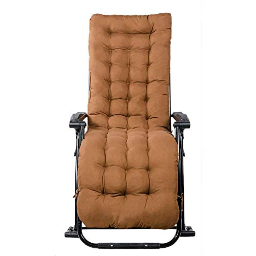 LLSS Cómoda Mecedora Relax con Cojines Marrones, Silla reclinable para Patio al Aire Libre Porche Silla portátil Silla de jardín, Soporte 200 kg