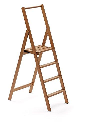 Arredamenti Italia Escalera 4 peldaños KIMORA, madera - Plegable - Color: madera...