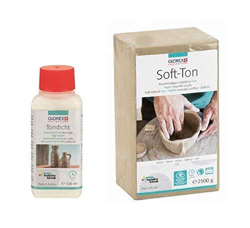 Glorex GmbH Set creativos: Soft Ton 2500 g blanco