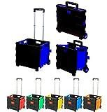 Einkaufstrolley Einkaufskorb Faltbar Blau | Belastbar bis 35kg | Ladekapazität 50L | Mit Ausziehgriff