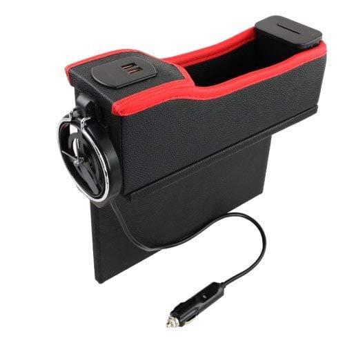 HaiMa Boîte De Rangement Montée sur Voiture avec Fente USB-Noir