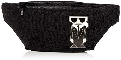 Karl Lagerfeld Paris Gürteltasche, schwarz/silber