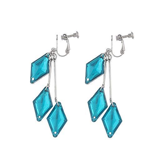 Earrings Drop Earring Clip-on Earring Hooks Disney-TwistedWonderland Long Dangle Chain Tassel Ear Bone Stud Clip Earrings Ear Clips Non Piercing Earrings Hoop for Women Non-Pierced Ears Cuff