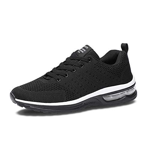 Axcone Herren Damen Sneaker Laufschuhe Sportschuhe Air Turnschuhe Running Fitness Sneaker Outdoors Straßenlaufschuhe Sports- 5066 BK 43