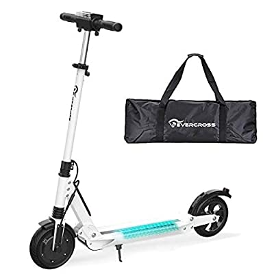 RCB Electric Scooter Folding Scooter Maximum speed 30km / h, 350W Motor, Anti-Skid Tire and LCD Screen, Waterproof, For Adults and Teenagers (white)