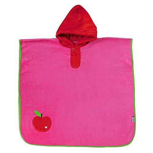 schlummersack Poncho de bain douillet avec capuche - Pomme - Rouge - Pour filles de 4 à 8 ans