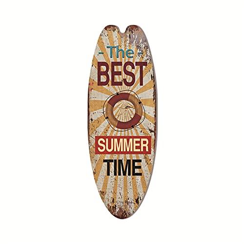 Letreros de madera para tabla de surf, barra tropical de verano, letrero de madera para colgar en la pared, decoración de la playa, fiesta, verano