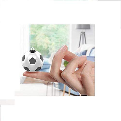 Camaras Espias Ocultas 1080P Cámara de Seguridad Portátil Small HD Nanny CAM con detección de Movimiento para el hogar y la Oficina (32x33x36mm, fútbol)