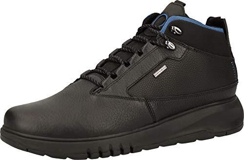 Geox Hombre Zapatillas AERANTIS 4X4 ABX, de Caballero Alto,Calzado Deportivo,Bota de Tobillo de Zapatilla,Impermeable,Schwarz,40 EU / 6.5 UK