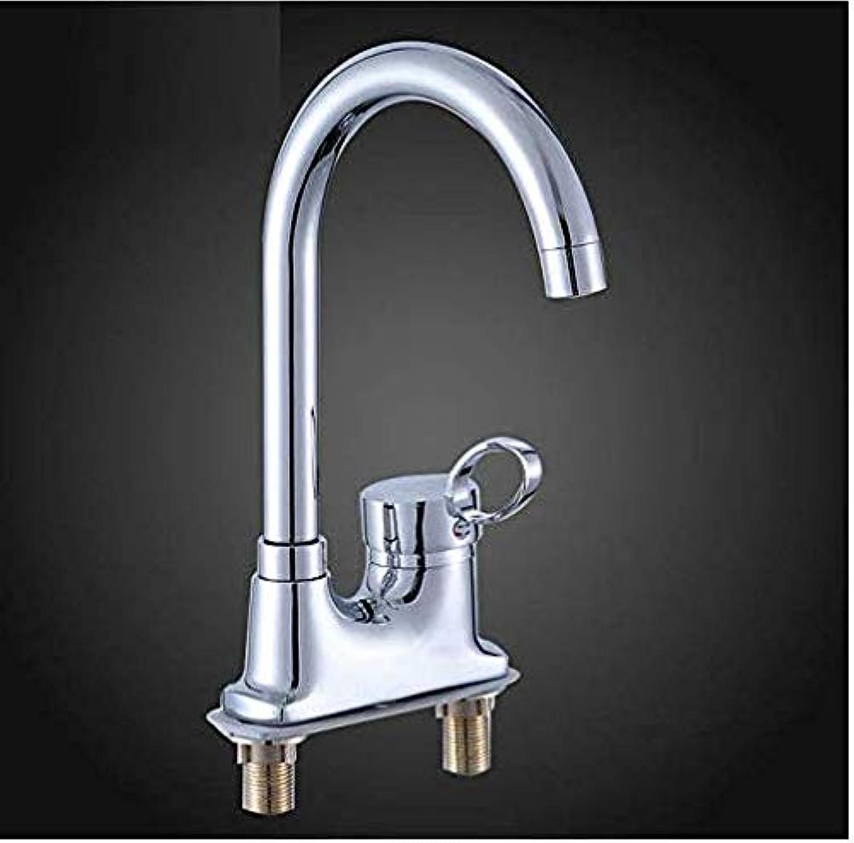 Kitchen Fauct Bathroom Faucet Copper Basin Hot and Cold Faucet Wash Basin Hot and Cold Single Handle Double Hole Washbasin Ceramic Basin Bathroom Universal Faucet