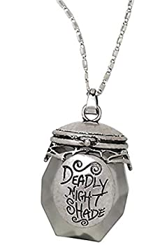 THE NIGHTMARE BEFORE CHRISTMAS Sally Deadly Nightshade Jar Faux Crystal Necklace