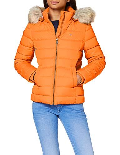 Tommy Jeans Damen Tjw Basic Hooded Down Jacket Jacke, Orange (Rustic Orange), L