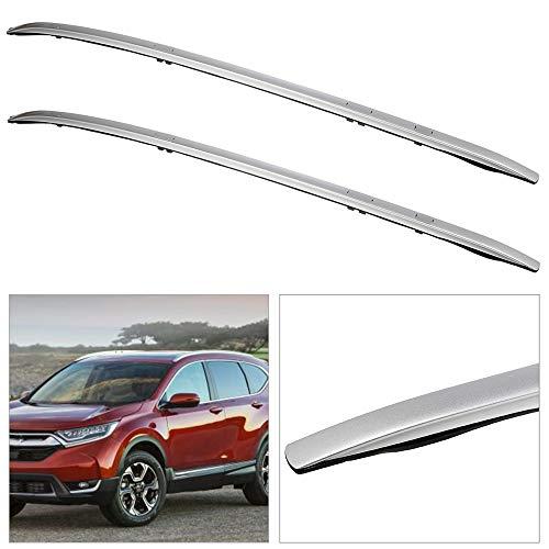 cciyu Universal Silver Aluminum Roof Rack Side Rails Car Top Luggage Carrier Side Rails Fit for 2017-2019 for Honda CR-V Sport Utility 4-Door