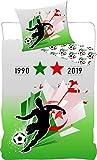 Juego de funda nórdica de Argelia con 2 estrellas en 1990 y 2019
