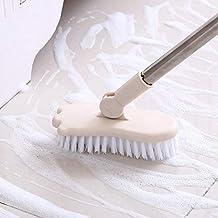 Scrubber Brush,Household Cleaning Bathroom Long-Handled Brush bristles to Scrub Toilet Bath Brush Ceramic Tile Floor Clean...