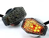 15 Amber LED Flush Mount Smoke Turn Signal Indicator Blinker Light Universal For Motorcycle Sport Street Racing Bike
