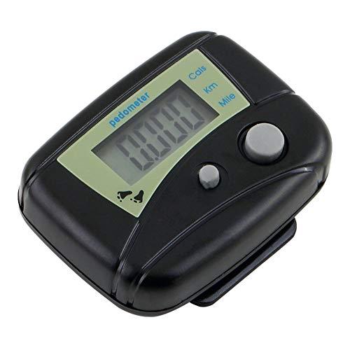 Jiayuane Laufzähler, Leichtathletik-Schrittzähler Kalorienzähler LCD-Doppelschlüssel-Schrittzähleruhr