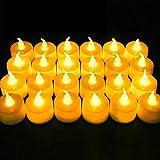 Candele a LED Nasharia, senza fiamma, candela elettrica falsificata, per Natale, Halloween, albero di Natale, Pasqua, matrimonio, festa, all'aperto, senza fiamma, luce bianca calda, 24 pezzi