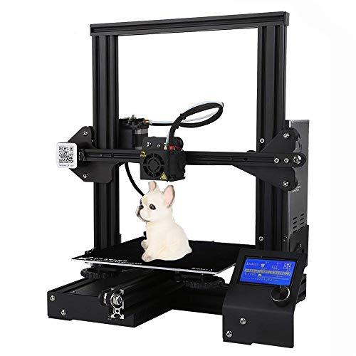 ZIHENGUO Ender 3 3D Printer, Kit d'impression Bricolage de Haute précision, Taille d'impression Auto-assemblée de 220 * 220 * 250mm avec Impression de Reprise 3D