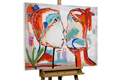 KunstLoft® Acryl Gemälde \'EIN Bund fürs Leben\' 100x75cm handgemalt Leinwand Bild