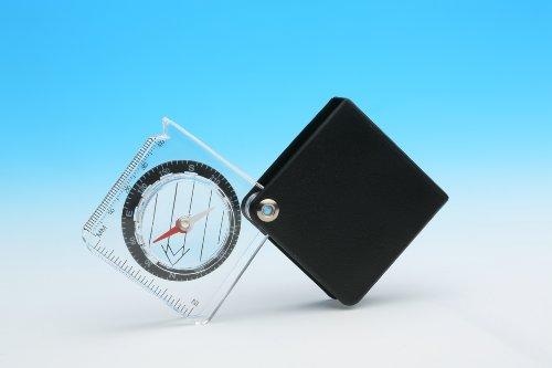 DC35S-boussole avec loupe intégrée-dimensions : 5,5 x 2,0 x 5,4 cm/1 chiffon microfibre (uVP - 1,50 euro gratuit - 1 flacon de produit nettoyant spécial 30 ml (verre 1 x) avec triple -eINSCHLAGLUPE en plastique inclus