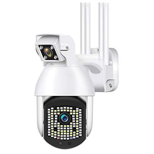 Cámara IP inalámbrica PTZ, 1080P, doble lente, vigilancia de seguridad CCTV para el hogar, 110 piezas, LED, seguimiento automático, zoom digital, cámara domo de velocidad