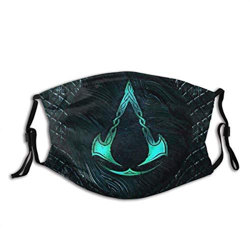 Assassins Creed Valhalla Synin Raven Cover Dusk Adjustable Ear Loops Comfortable Face Mask Balaclava Black