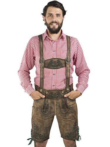 Pantalones de Cuero para Hombres Maximilian de la Serie Meisterstück de Schöneberger Trachten - Pantalones de Cuero de Trachten Incl. Tirantes