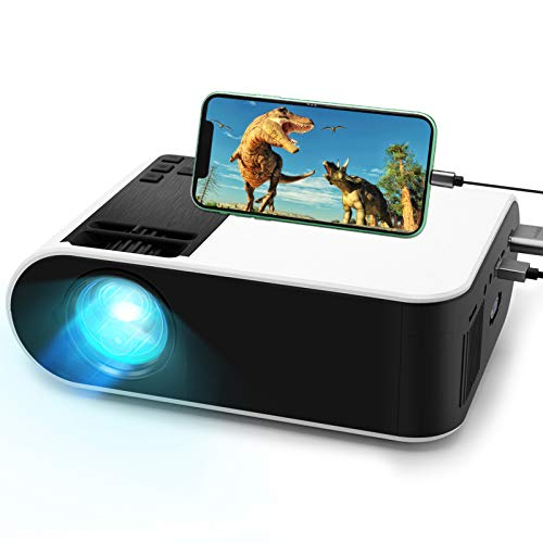Mini Projector,WayGoal Movie Projector with 50000 Hours LED Lamp Life and 1080P Supported Projector for Outdoor,150