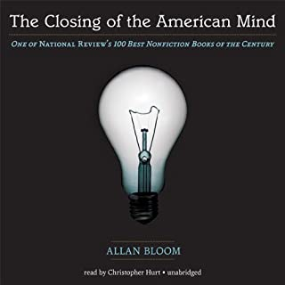 The Closing of the American Mind audiobook cover art
